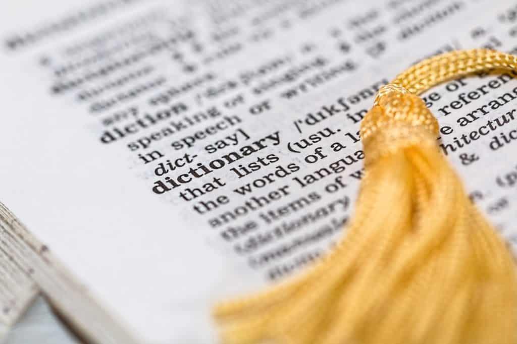 Wörterbuch beim Pilgern